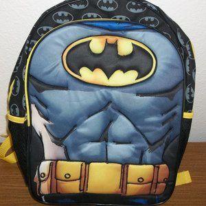 BATMAN UNIFORM BACKPACK BOOKBAG NWT DC COMICS